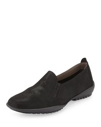 Sesto Meucci Angy Suede Slip On Loafer Black