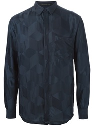 Christopher Kane Geometric Jacquard Shirt Blue