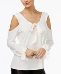 Guess Tie Detail Cold Shoulder Top Scuffy