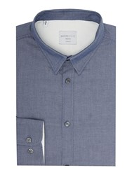 Selected Christian Tap Textured Shirt Blue