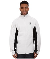 Spyder Constant Full Zip Mid Weight Core Sweater Cirrus Black Men's Sweater White