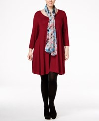 Styleandco. Style Co. Plus Size Swing Dress Only At Macy's New Red Amore