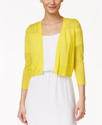 Thalia Sodi Solid Bolero Cardigan Only At Macy's Sunray Yellow