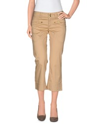 Guess Jeans Trousers 3 4 Length Trousers Women Beige