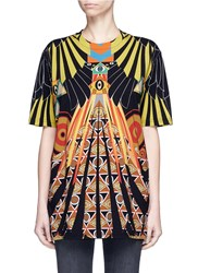 Givenchy Optical Wing Print Jersey T Shirt Multi Colour