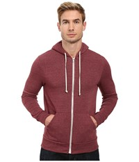 Alternative Apparel Rocky Zip Hoodie Eco True Currant Men's Sweatshirt Brown