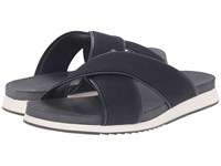 Calvin Klein Campbell Dark Navy Webbing Men's Sandals Black