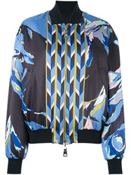 Emilio Pucci Abstract Print Bomber Jacket