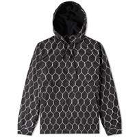 Undercover Fence Print Hooded Jacket Black