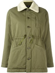 A.P.C. Military Style Coat Green