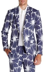 Mr Turk Thurston Floral Notch Lapel Blazer Blue