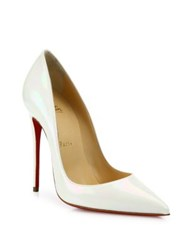 Christian Louboutin So Kate Patent Leather Pumps White