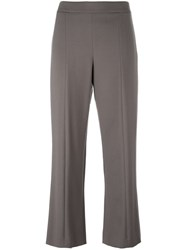 Giorgio Armani Flared Cropped Trousers Nude And Neutrals