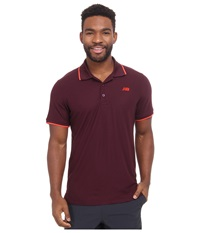 New Balance Challenger Classic Polo Burgundy Men's Short Sleeve Pullover