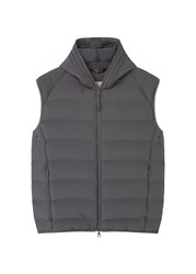 Mango Men's Quilted Lightweight Feather Gilet Grey