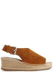 Rag And Bone Sienna Suede Espadrille Wedge Sandals Tan