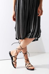 Urban Outfitters Modern Leather Gladiator Sandal Black