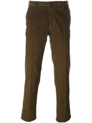 Incotex Corduroy Trousers Brown