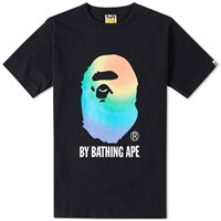 A Bathing Ape Rainbow By Bathing Tee Black