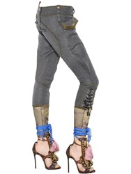Dsquared Military Style Wool Twill Pants
