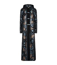 Peter Pilotto Embroidered Mohair Blend Coat Female Navy
