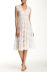 Eva Franco Marcel Lace V Neck Dress White