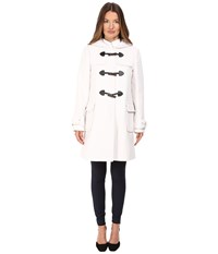 Kate Spade Peacoat W Toggles Hood 34 Light Shale Women's Coat Multi