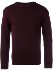 Armor Lux 'Fouesnant' Jumper Red