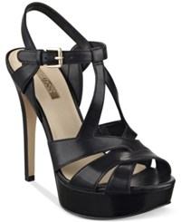 Guess Women's Kymma Strappy Platform Dress Sandals Women's Shoes Black