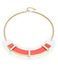 Abs By Allen Schwartz Neon Plate Necklace Pink