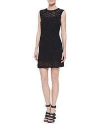 Theyskens' Theory Crochet Crewneck Tank Dress Black