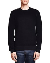 The Kooples Textured Sweater With Zip Detail Black