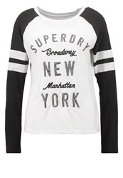 Superdry Long Sleeved Top Off White Black