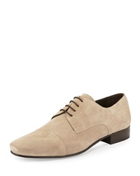 Bruno Magli Martico Suede Lace Up Loafer Taupe