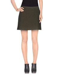 Paul And Joe Mini Skirts Military Green