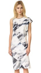 Zero Maria Cornejo Simple Tomo Dress Cloudy Stripe