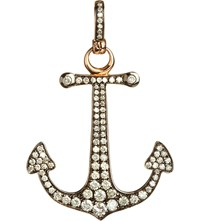 Annoushka Mythology 18Ct Rose Gold And Diamond Anchor Hope Charm