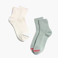 Madewell Two Pack Ribbed Ankle Socks Willow Sand