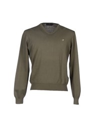 Brooksfield Knitwear Jumpers Men Military Green