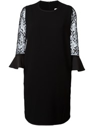 Mame Lace Bell Sleeve Dress Black