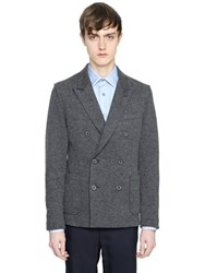 Lanvin Double Breasted Blend Jersey Jacket