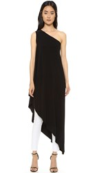 Norma Kamali Kamali Kulture One Shoulder Diagonal Tunic Black