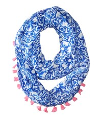 Lilly Pulitzer Riley Infinity Loop Resort White Pooling Around Scarves Blue
