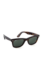 Ray Ban Original Wayfarer Sunglasses Tortoise Green