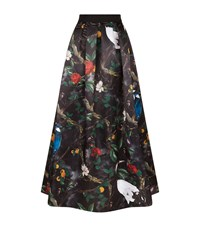 Alice Olivia Sherlene Printed Ball Gown Skirt Female Black