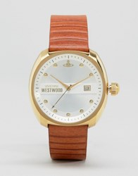 Vivienne Westwood Tan Leather Strap Watch Tan