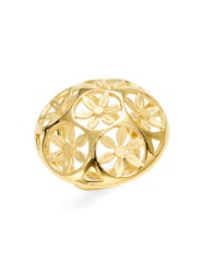 Trina Turk Domed Flower Cocktail Ring Gold