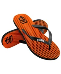 Forever Collectibles San Francisco Giants High End Flip Flops Black