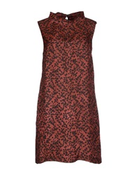 Massimo Alba Short Dresses Brown