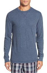 Men's Big And Tall Nordstrom Waffle Knit Long Sleeve T Shirt Navy